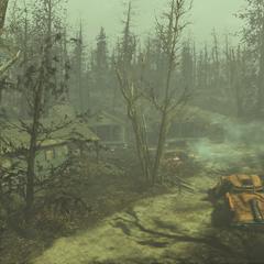 Вид на табір