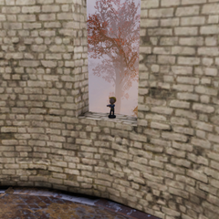 Potential Vault-Tec bobblehead in lighthouse window
