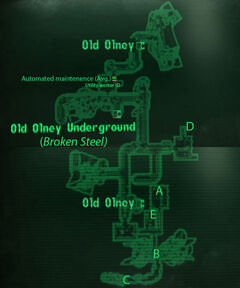 Olney sewers loc map
