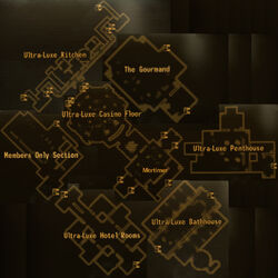 Ultra Luxe casino main level map