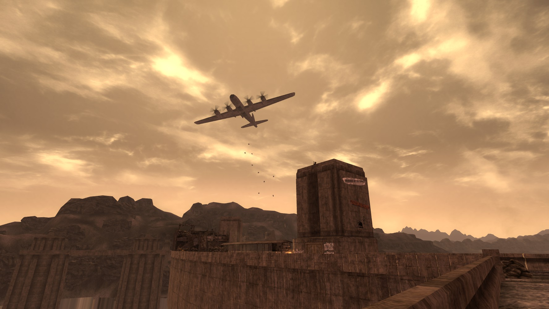 B29 fly-over 2nd Battle Hoover Dam
