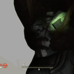 The face at the bottom of the well as viewed from outside the map