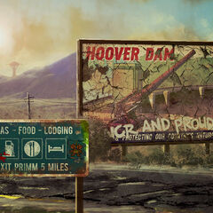Hoover Dam advertisement on a loading screen