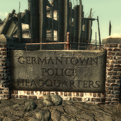 Germantown Police HQ sign