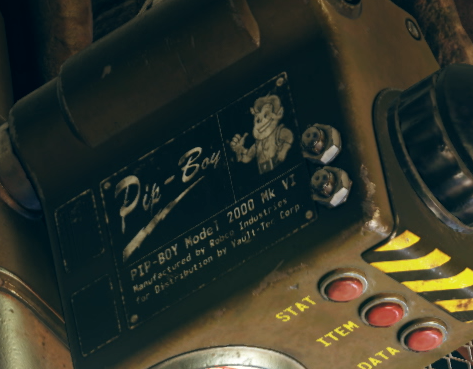 Fallout76 Teaser Pip-Boy 2000 Mark VI Nameplate