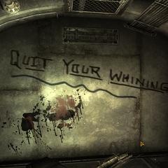 Vault 3 graffitti