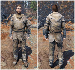FO76 Radstag hide outfit (male)