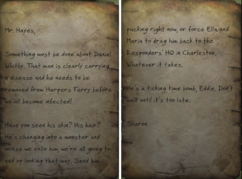 Sharon's angry letter HF