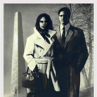 Pre-War photo of Nora and Nate near Bunker Hill, from <i><a href=