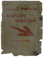 Cut Dupont Station poster