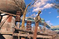 FO4 Happy Halloween water plant