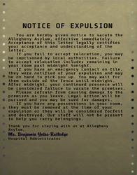 FO76 notice of expulsion