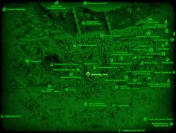FO4 Даймонд-сити (карта мира)