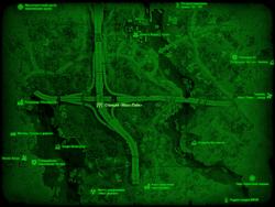 FO4 Станция «Масс Пайк» (карта мира)
