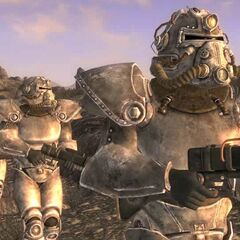 Brotherhood of Steel patrol in the Mojave Wasteland