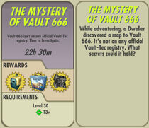 FoS The Mystery of Vault 666 card