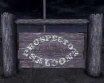 Prospector Saloon sign