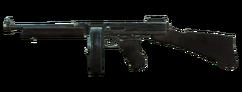 Silver submachine gun