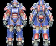 FO4CC T-45 power armor patriotic