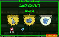FoS Reign of Radroach Rodney! rewards