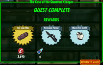 FoS The Case of the Quantum Creeper rewards