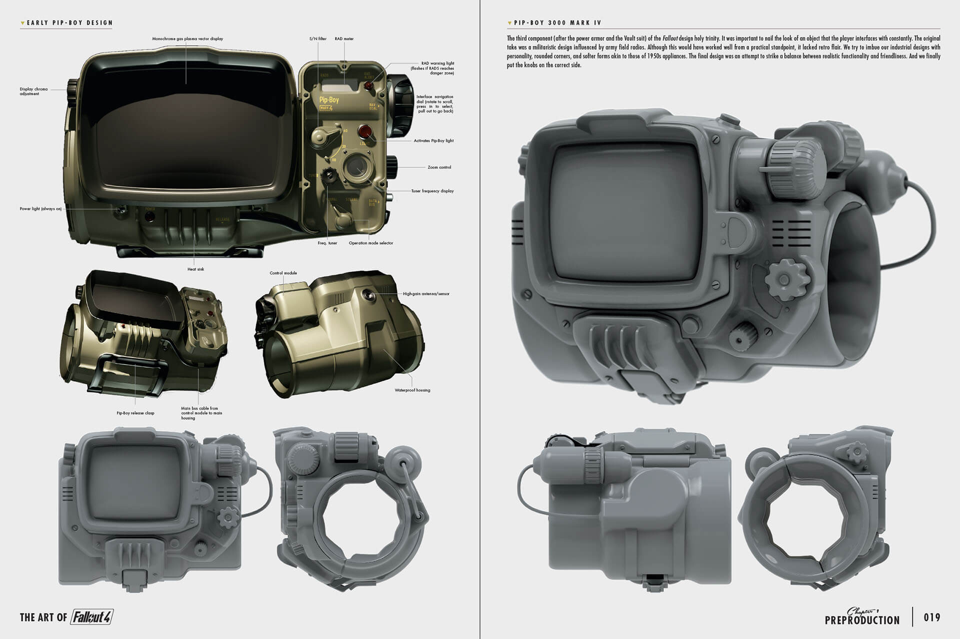 Art of Fo4 Pip-Boy concept art