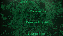 Evergreen Mills loc map