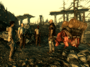 FO3BS Water caravan in the Megaton