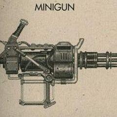 <i>Fallout 3</i> minigun concept art