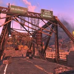 Bridge leading to Dickinson St.