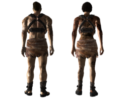 Tattered slave outfit back