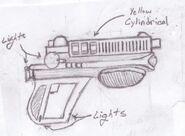 Wattz 1000 Laser Pistol (Fallout and Fallout2)
