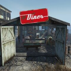 Entrance to the Atom Cats diner