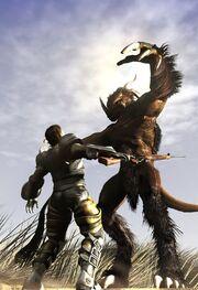 Deathclaw-attack-fox