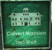 FO3PL Calvert Mansion sign