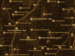 FNV Карта ЛАГЕРЯ ПОДРЫВНИКОВ
