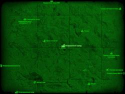 FO4 Разрушенный завод (карта мира)
