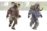 FO76WA sheepsquatch outfit concept art 01