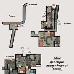Карта Цеху складання машин «Корвега» всередині