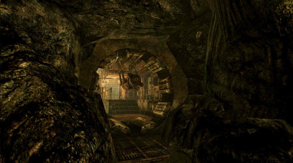 Outside the vault34 blast