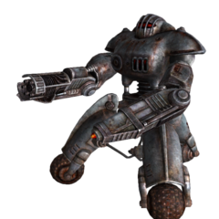 Робот-охоронець з гатлинг-лазером