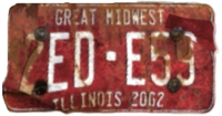 FNV License plate EDE