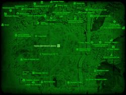 FO4 Свалка Долговязого Джона (карта мира)