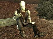 Graham czyta biblie w obozie