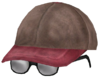 Kid's ballcap with glasses