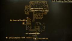 OWB X-8 testing facility map