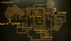 Vault 19 map living quarters