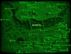 FO4 Разрушенный корабль «Клокот» (карта мира)