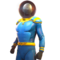 FO76LR Captain Cosmos Outfit Blue