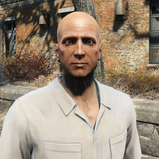 Deacon without his sunglasses
